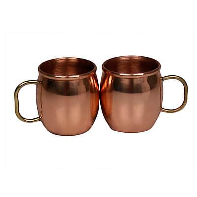 Jodhpuri™ Moscow Mule Mini Shot Mugs in Copper (Set of 2)