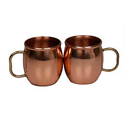 Jodhpuri™ Moscow Mule Mini Shot Mugs in Copper (Set of 2)