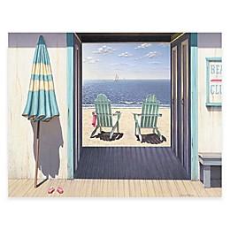 Courtside Market Beach Club 24-Inch x 36-Inch Gallery Canvas Wall Art