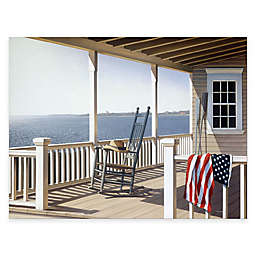 Courtside Market American Porch 16-Inch x 20-Inch Gallery Canvas Wall Art