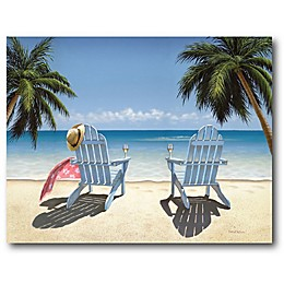 Courtside Market Cocktails For Two 24-Inch x 36-Inch Gallery Canvas Wall Art