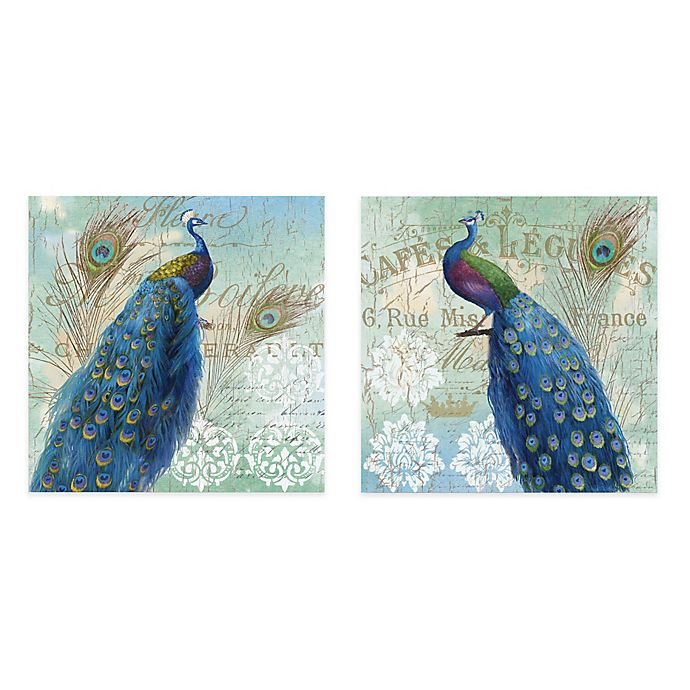 Alternate image 1 for Courtside Market Blue Peacock Gallery Canvas Wall Art