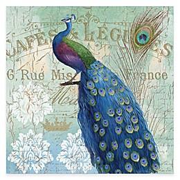 Courtside Market Blue Peacock II Gallery Canvas Wall Art