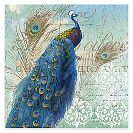 Courtside Market Blue Peacock I Gallery Canvas Wall Art