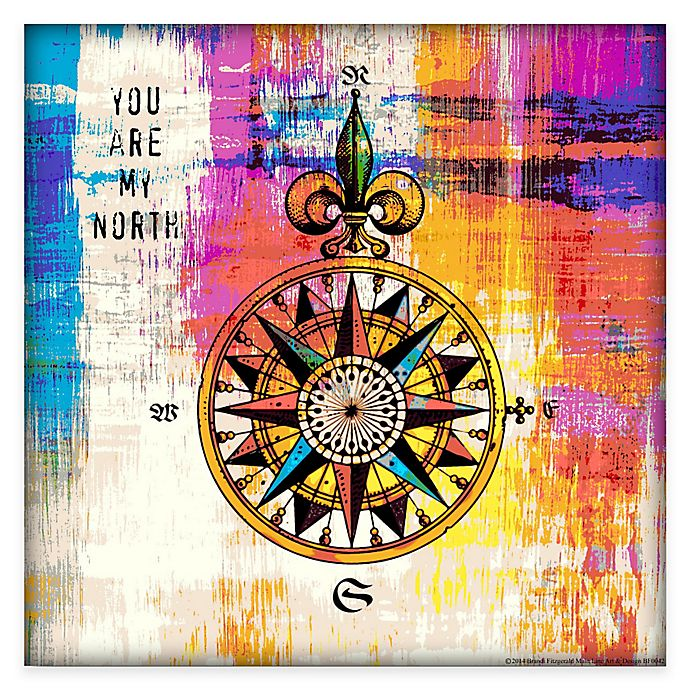 Alternate image 1 for Courtside Market Colorful Compass Gallery Canvas Wall Art