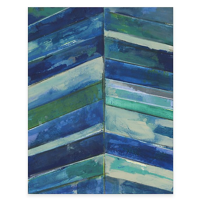 Alternate image 1 for Courtside Market Contemporary Blue Stripes Gallery Canvas Wall Art
