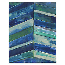 Courtside Market Contemporary Blue Stripes Gallery Canvas Wall Art
