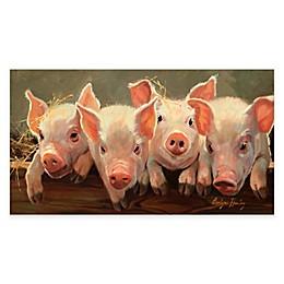 Courtside Market Little Piggies Gallery Canvas Wall Art