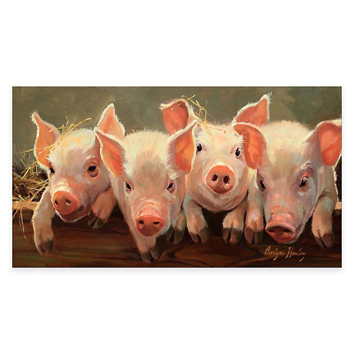 Alternate image 1 for Courtside Market Little Piggies Gallery Canvas Wall Art
