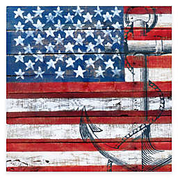 Courtside Market American Flag Anchor Gallery Canvas Wall Art