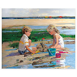 Courtside Market Sandcastles 16-Inch x 20-Inch Gallery Canvas Wall Art