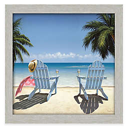 Courtside Market Cocktails For Two 30-Inch x 30-Inch Gallery Canvas Wall Art