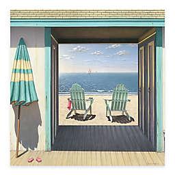 Courtside Market Beach 16-Inch x 16-Inch Club Gallery Canvas Wall Art