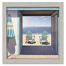 Courtside Market Beach Club Framed 30-Inch x 30-Inch Gallery Canvas Wall Art