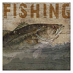 Courtside Market Fishing Lodge 16-Inch x 16-Inch Gallery Canvas Wall Art