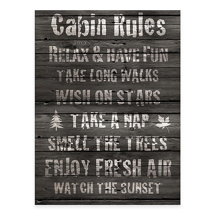 Alternate image 1 for Courtside Market Cabin Rules Gallery Canvas Wall Art