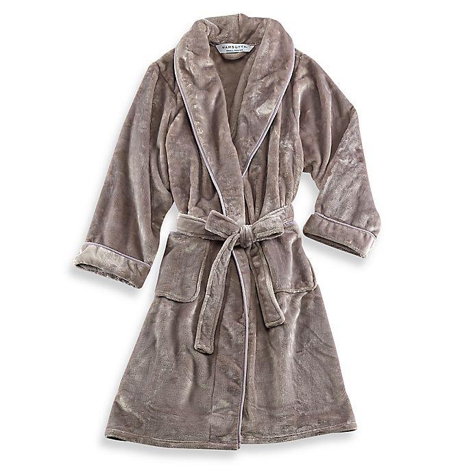 Alternate image 1 for Wamsutta® Small/Medium Plush Robe in Grey