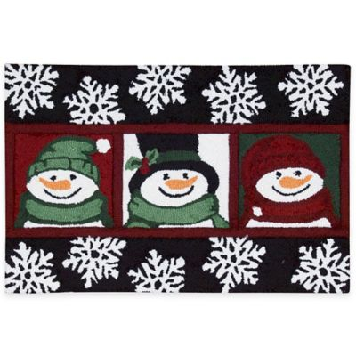 Nourison 30 Inch X 20 Inch Snowman Handhook Holiday Accent