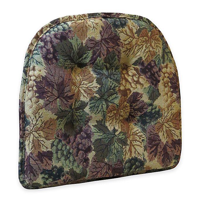 Alternate image 1 for Klear Vu Tufted Cabernet Gripper® Chair Pad in Multi