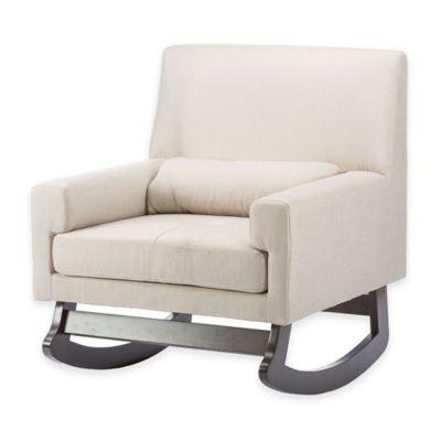 Baxton Studio Imperium Linen Rocking Chair With Pillow