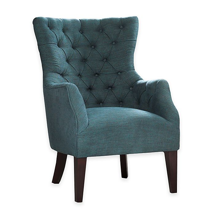 Alternate image 1 for Madison Park Hannah Button Tufted Wing Back Chair