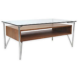 LumiSource Hover Walnut Coffee Table