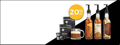 20% off Starbucks Pods & Syrups