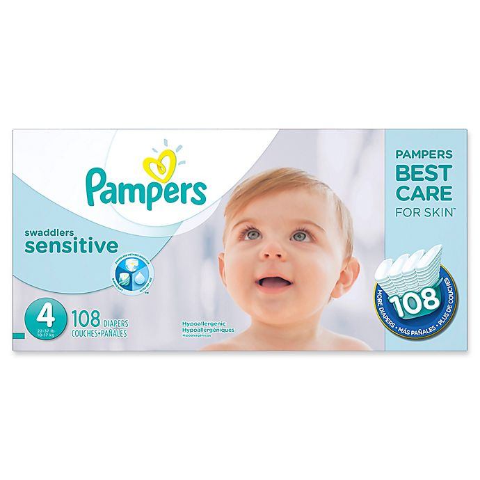 Alternate image 1 for Pampers® Swaddlers Sensitive™ 108-Count Size 4 Economy Pack Diapers