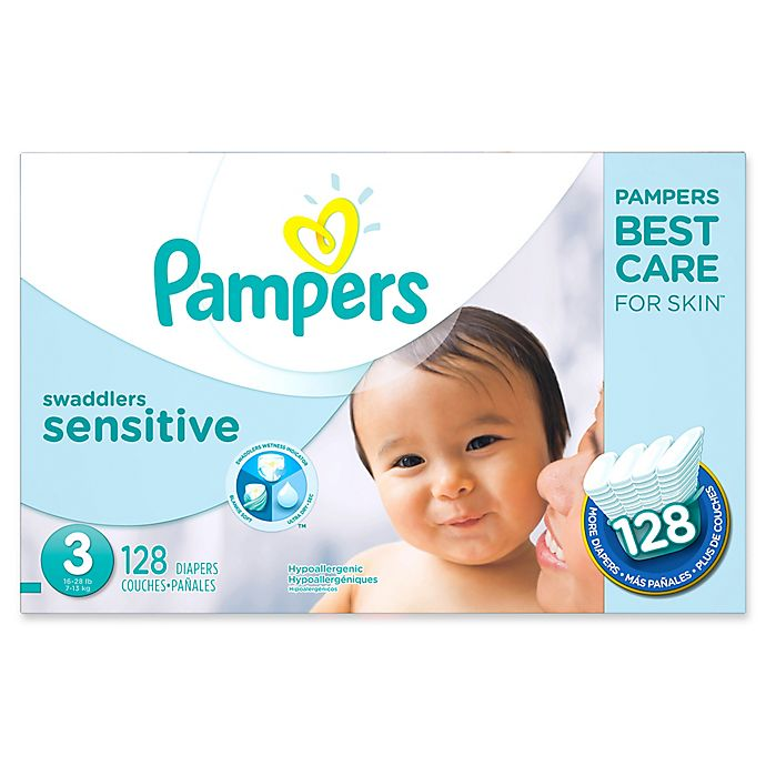 Alternate image 1 for Pampers® Swaddlers Sensitive™ 128-Count Size 3 Economy Pack Diapers