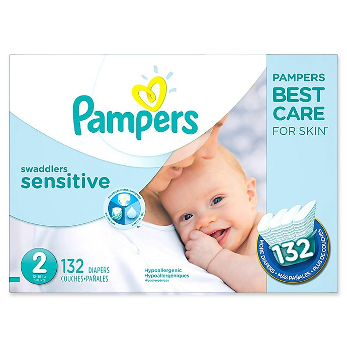 Alternate image 1 for Pampers® Swaddlers Sensitive™ 132-Count Size 2 Economy Pack Diapers