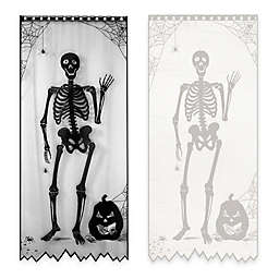84-Inch Bones Halloween Door/Window Curtain Panel