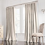 Valeron Estate 84-Inch  Rod Pocket Insulated Double-Width Window Curtain Panel in Flax
