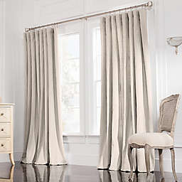 Valeron Estate 120-Inch  Rod Pocket Insulated Double-Width Window Curtain Panel in Flax
