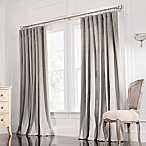 Valeron Estate Cotton Linen 84-Inch Double-Width Window Curtain Panel in Steel Grey