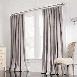 Valeron Estate Cotton Linen 120-Inch Double-Width Window Curtain Panel in Steel Grey