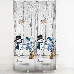 Saturday Knight Winter Friends Shower Curtain With Hooks