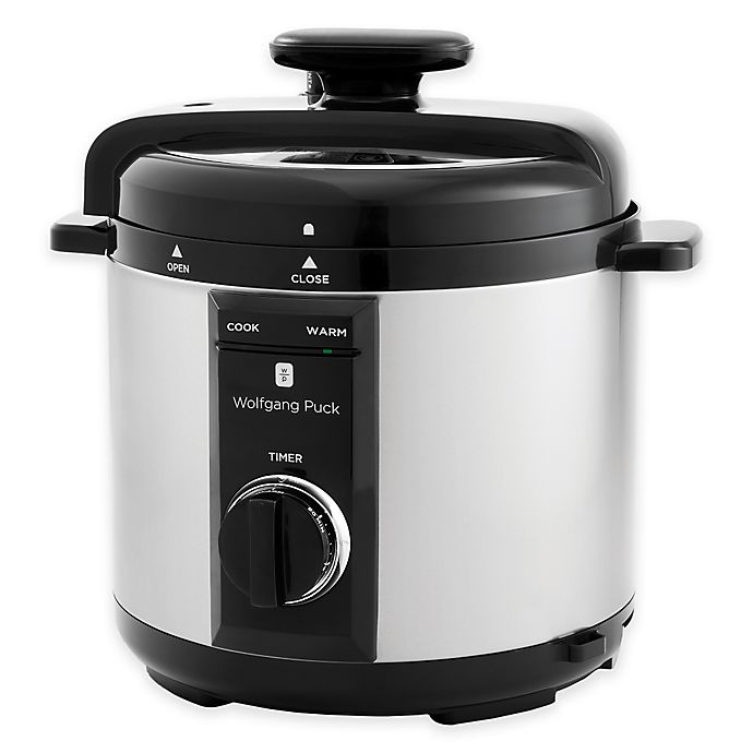 Wolfgang Puck® 8 qt. Electric Pressure Cooker in Silver/Black | Bed Bath & Beyond