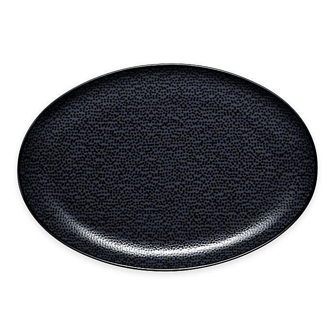 Alternate image 1 for Noritake® Black on Black Snow Oval Platter
