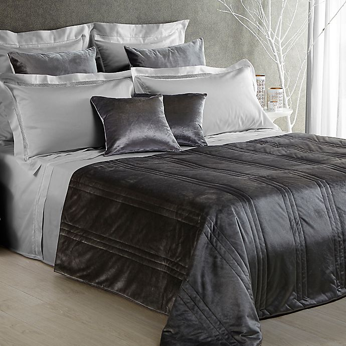 Alternate image 1 for Frette At Home Realmonte Standard Pillow Sham in Grey