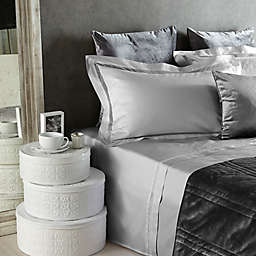 Frette At Home Tiber Lace Pillow Sham in Grey