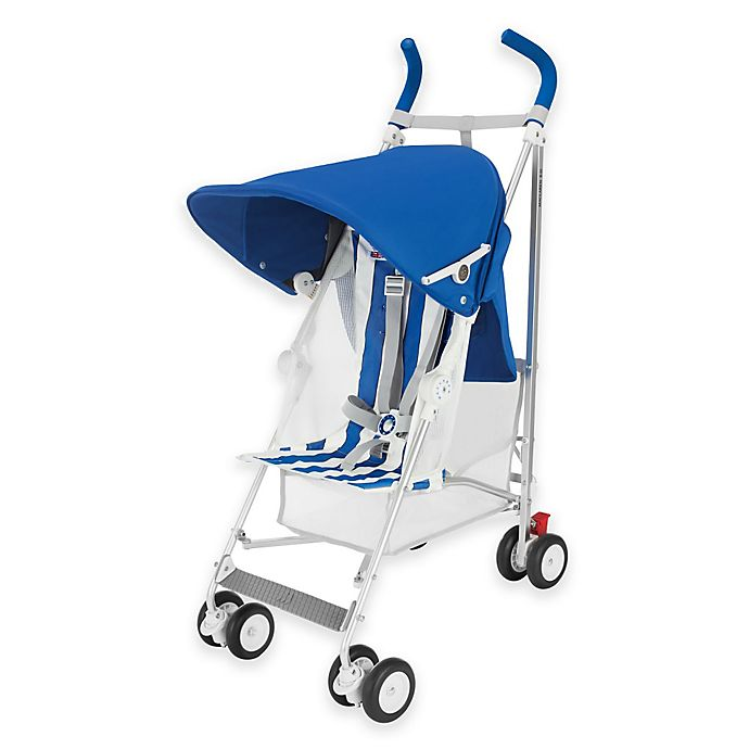 Alternate image 1 for Maclaren® B01 50th Anniversary Edition Volo Stroller in Blue/White