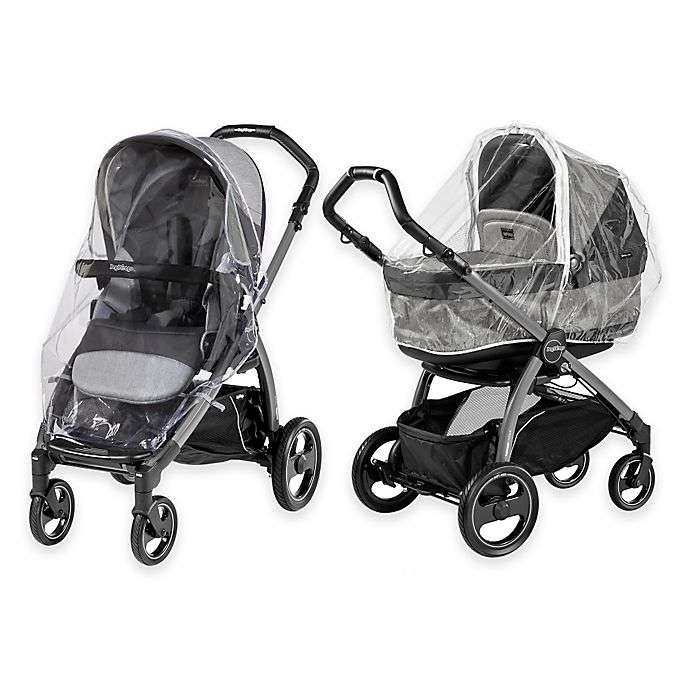 Alternate image 1 for Peg Perego Book Pop-Up and Team Stroller Rain System in Clear