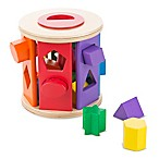 Melissa and Doug® 14-Piece Wooden Match and Roll Shape Sorter