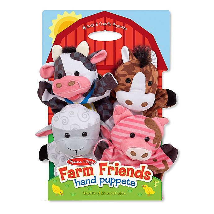 Alternate image 1 for Melissa and Doug® Farm Friends Hand Puppets (Set of 4)