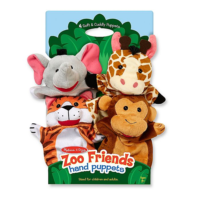Alternate image 1 for Melissa and Doug® Zoo Friends Hand Puppets (Set of 4)