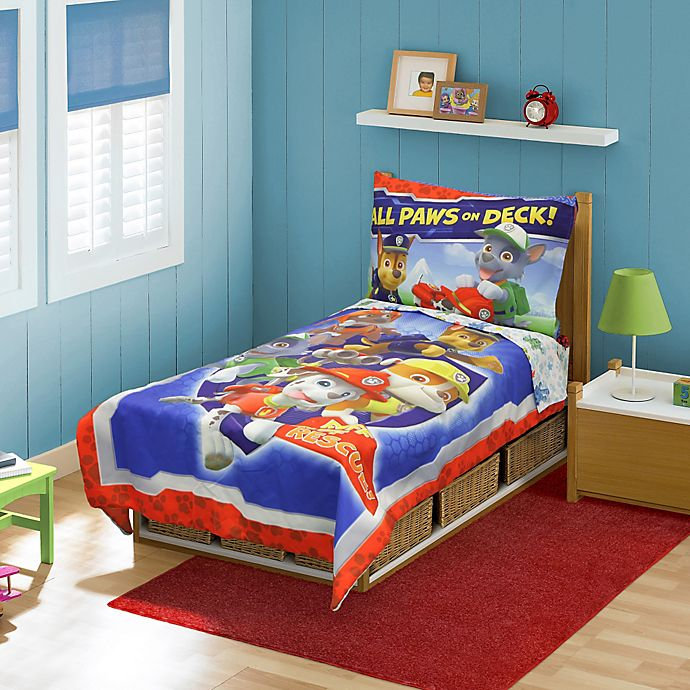 Alternate image 1 for Nickelodeon™ PAW Patrol 4-Piece Toddler Bed Set