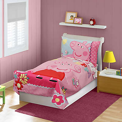 babyboom® Peppa Pig 4-Piece Toddler Bedding Set in Pink