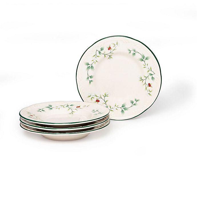 Alternate image 1 for Pfaltzgraff® Winterberry Appetizer Plates (Set of 4)