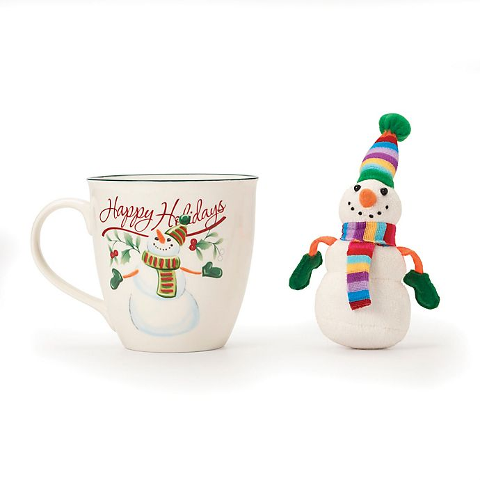Alternate image 1 for Pfaltzgraff® Winterberry Mug with Snowman Ornament