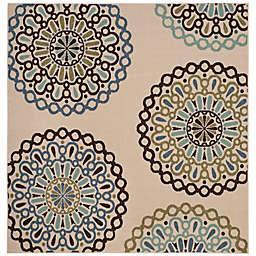 Safavieh Veranda Avery 6'7 x 6'7 Indoor/Outdoor Area Rug in Blue